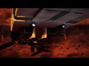 Mass Effect 2 : Mit den richtigen Schiffupgrades ist der Anflug auf die Basis kein Problem.