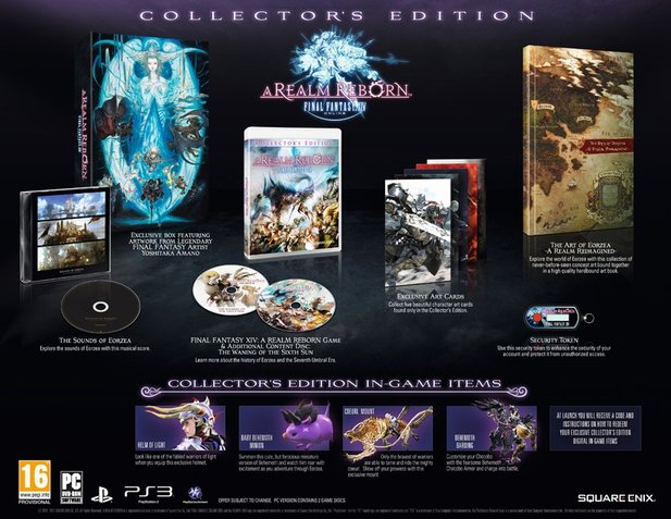 Die Collector's Edition von Final Fantasy 14 Online: A Realm Reborn.