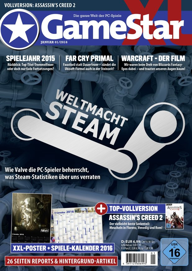 GameStar 01/16, ab dem 30.12. am Kiosk.