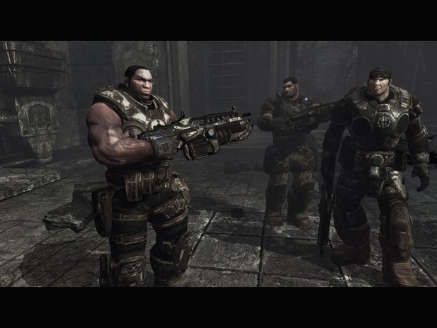 Cole Train (links) aus Gears of War