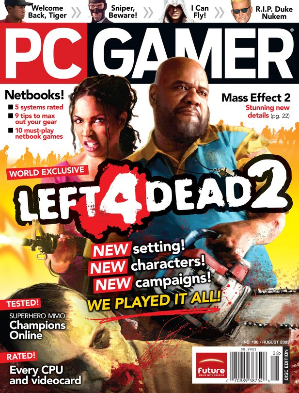 August-Cover des US-Magazin PC Gamer