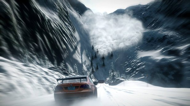 In Need for Speed: The Run bekommen wir es sogar mit Lawinen zu tun.