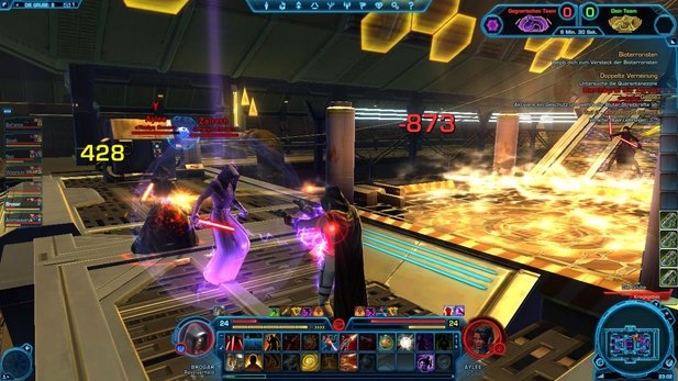 Spielszenen aus Star Wars: The Old Republic.