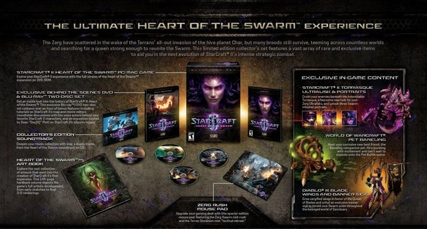Die Collector's Edition zu Heart of the Swarm.