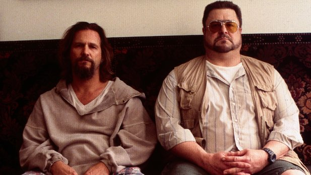 Jeff Bridges und John Goodman als Dude und Walther in Kultfilm The Big Lebowski.