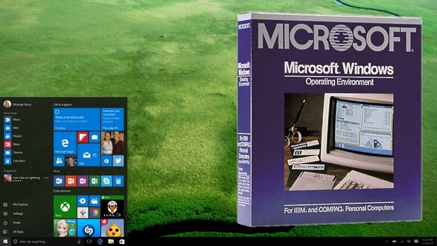 30 Jahre Windows – von Version 1.0 bis Windows 10.
