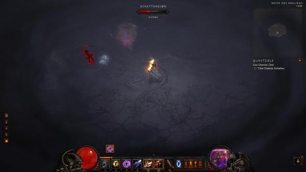 Diablo 3 - Komplettlösung : Unser dunkler Klon in der zweiten Phase des finalen Kampfs.