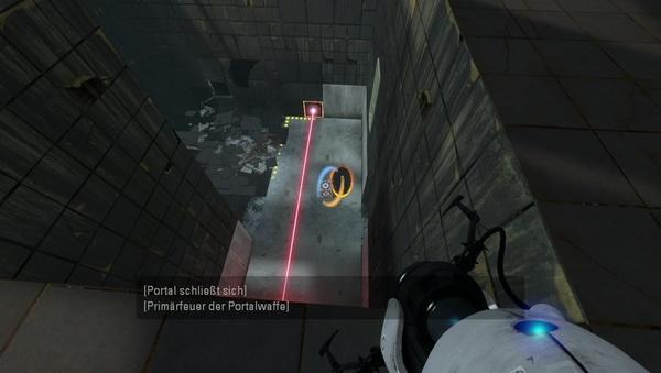 Portal 2 : Holen Sie sich den Würfel durch ein Portal nach oben.