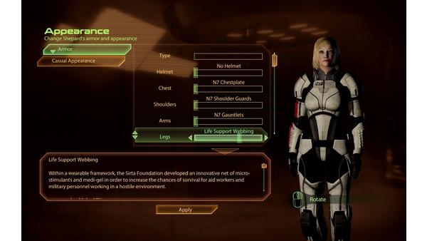 Screenshot zu Mass Effect 2 - Die Outfits im Bild