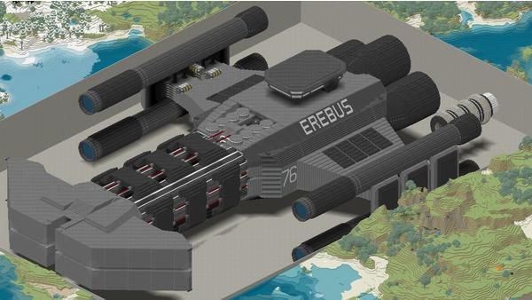 Bild der Galerie Minecraft-Großprojekte - Battlecruiser aus Starcraft 2