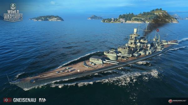 Screenshot zu World of Warships - Artworks und Konzeptzeichnungen