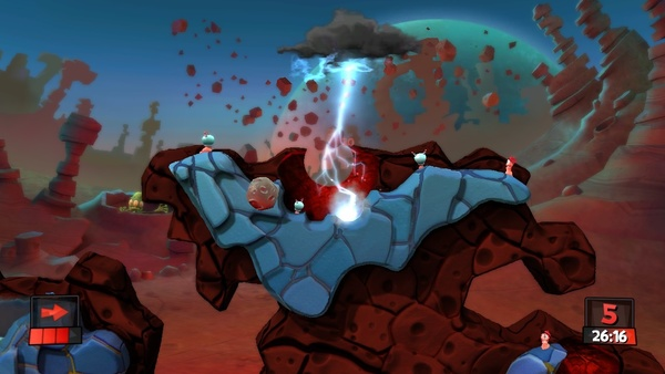 Screenshot zu Worms Revolution - Screenshots aus dem Mars-Pack-DLC