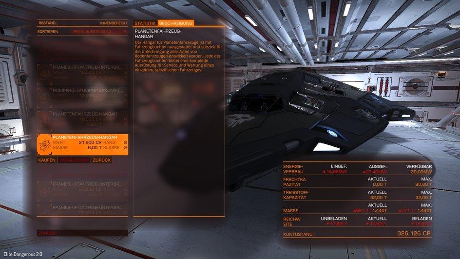Planetenfahrzeug-Hangar