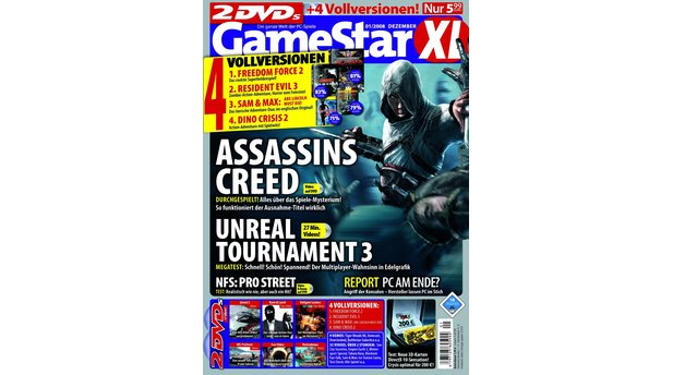 eStar 1/2008</b><br>Assassin's Creed-Titelstory, Previews zu Universe at War, Rise of the Argonauts und Geheimakte 2. Außerdem: Crysis, Call of Duty 4, Unreal Tournament, Empire Earth 3 und Need for Speed: ProStreet im Test.