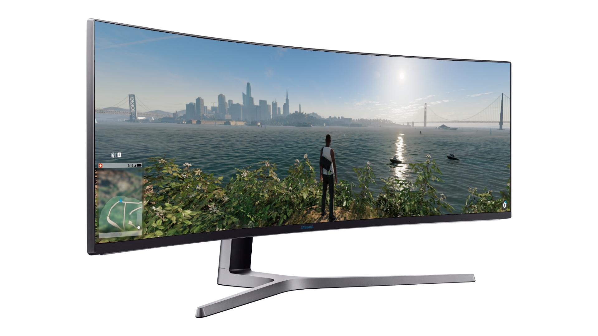 samsung chg90 super ultra wide monitor auf 49 zoll mit hdr gamestar. Black Bedroom Furniture Sets. Home Design Ideas
