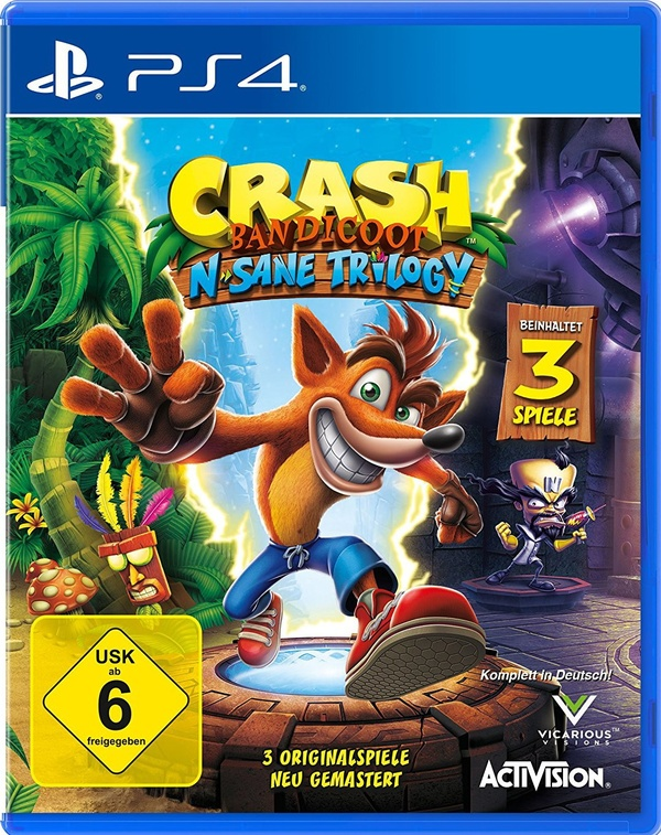 Cover zu Crash Bandicoot N. Sane Trilogy