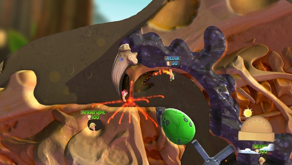 Screenshot zu Worms Battlegrounds (PS4) - Screenshots