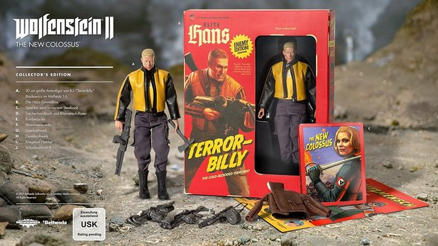 Das ist die Collector's Edition von Wolfenstein 2: The New Colossus.