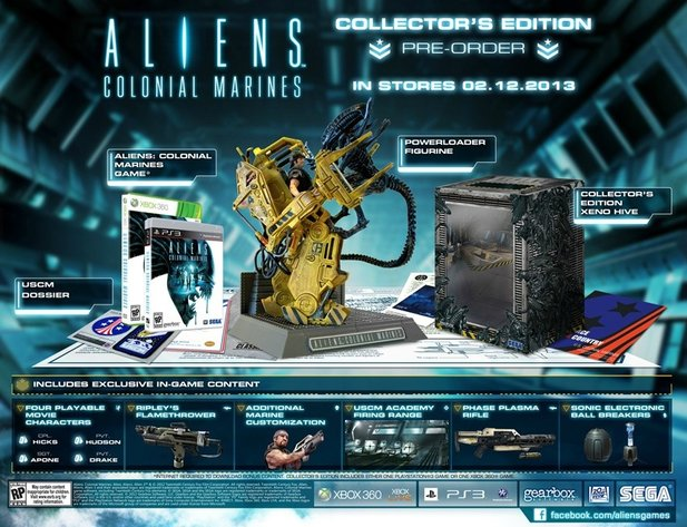Die Collector's Edition von Aliens: Colonial Marines