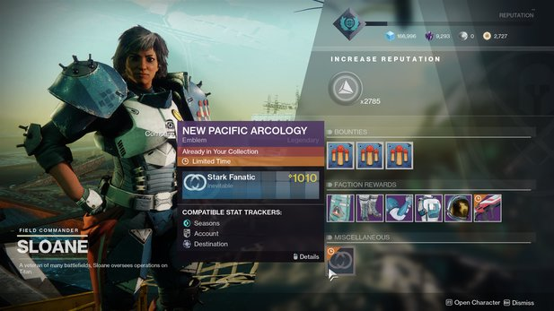 A mistake or intention? The Titan emblem is suddenly limited in time in Destiny 2. (Image source: Bungie via polygon.com)