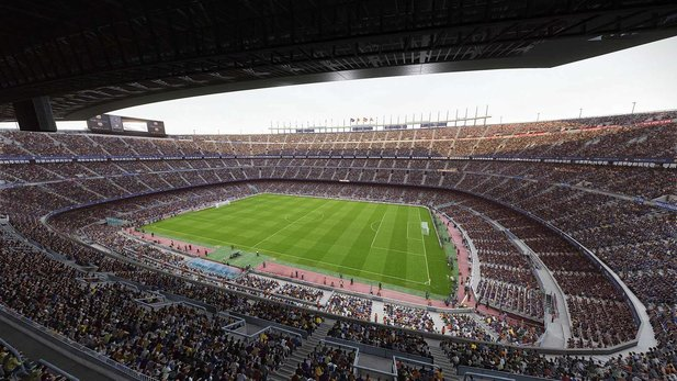 Das Camp Nou vom FC Barcelona in eFootball PES 2020