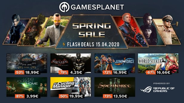 Spring Sale Tag 6 bei Gamesplanet