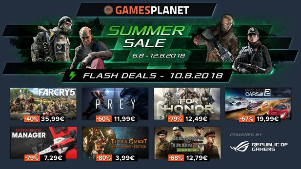 Der Gamesplanet Summer Sale bringt euch Far Cry 5, Prey und den Motorsport Manager.