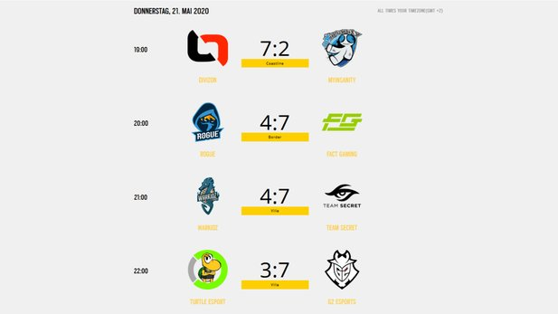 GSA League: Results from matchday # 2