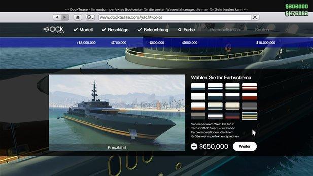 gta 5 gta online yacht update preise und ausstattungen. Black Bedroom Furniture Sets. Home Design Ideas