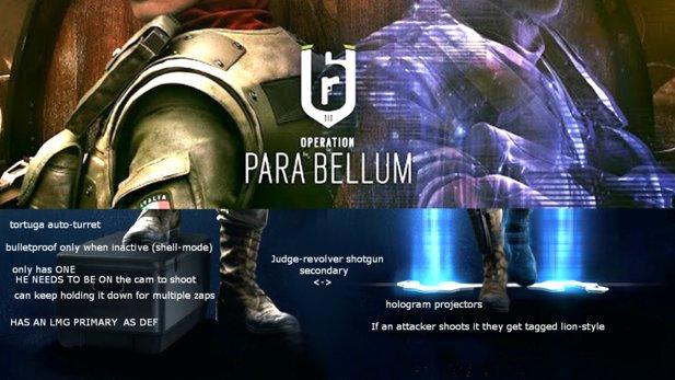 Dieses Bild zeigt angeblich den Namen der nächsten Rainbow-Season Operation Para Bellum und die Gadgets von Maestro und Alibi.