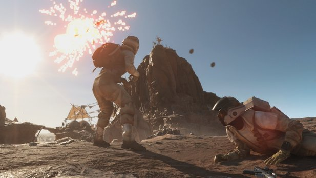Star Wars: Battlefront - Grafikvergleich: Ingame-Zwischensequenz in Max-Detail vs Low-Detail