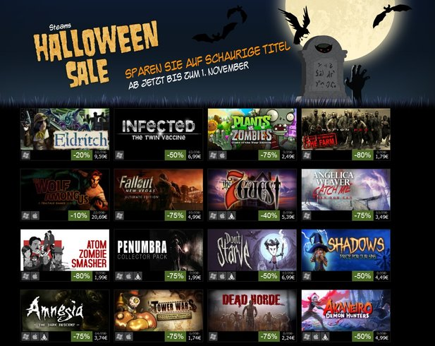 Auf Steam hat der »Halloween Sale 2013« begonnen.
