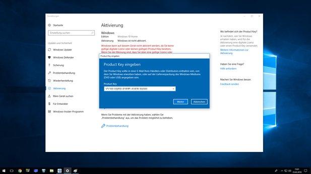 Windows 10 Mit Win 7 Key Aktivieren