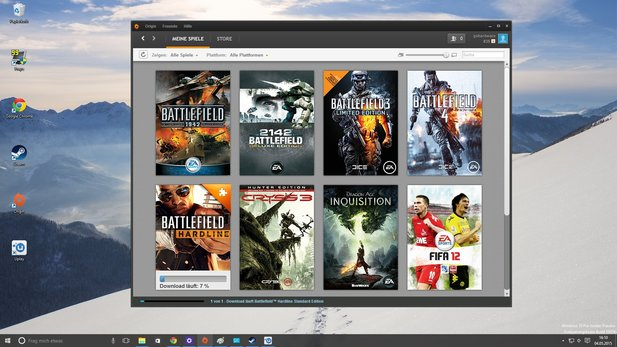 Software unter Windows 10: Origin