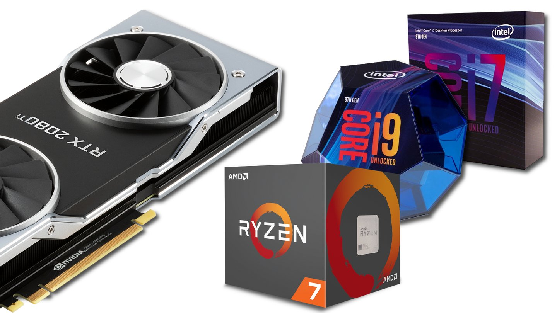 CPU-Tests mit RTX 2080 Ti - i9 9900K vs  i7 8700K vs  Ryzen