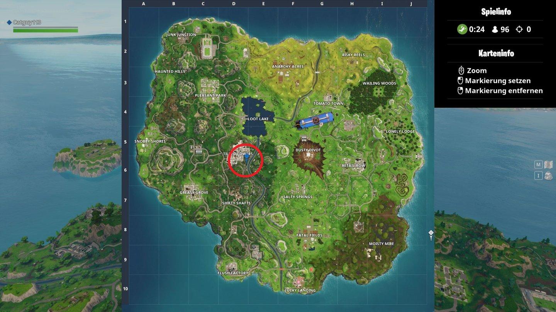 Fortnite Alle Tore Schießen Karte Zeigt Euch Die Fußballplätze