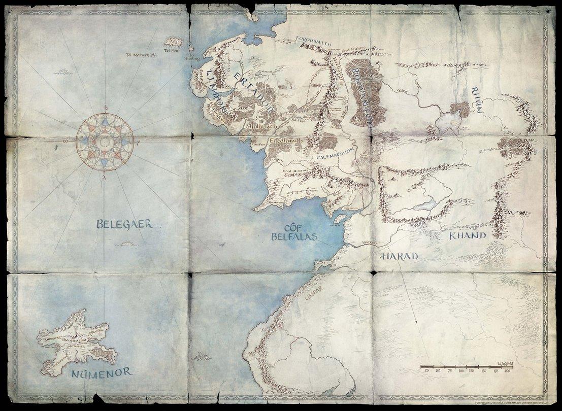 Mittelerde Karte Komplett.Herr Der Ringe Serie Von Amazon Entsteht Größtenteils In Schottland