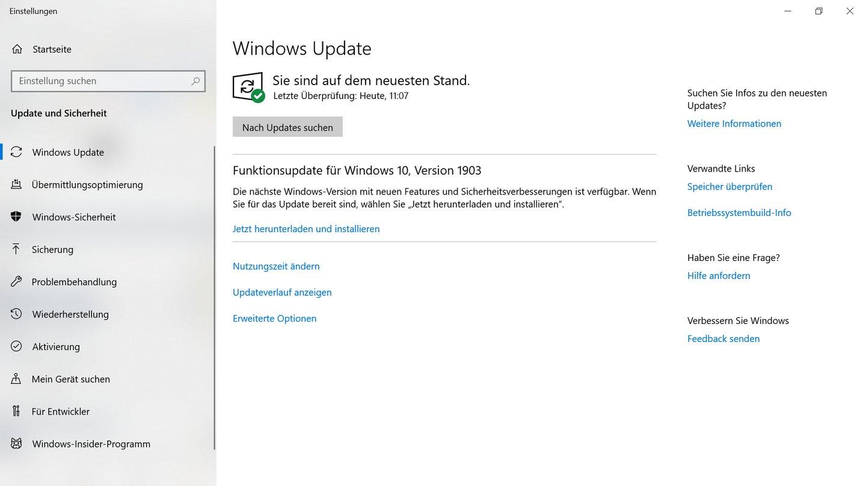 windows 10 update mai 2020