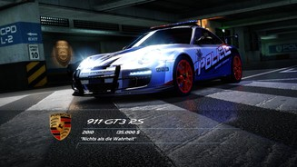 <b>Need for Speed: Hot Pursuit</b><br>Wie cool Polizeiwagen aussehen können, demonstriert dieser Porsche 911 GT3 RS.