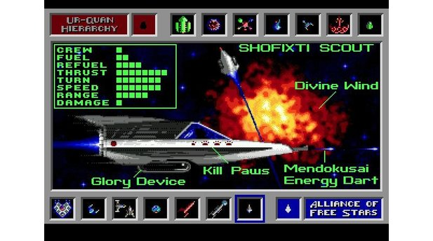 Ship databank entry for the Shofixti Scout, an Alliance vessel.