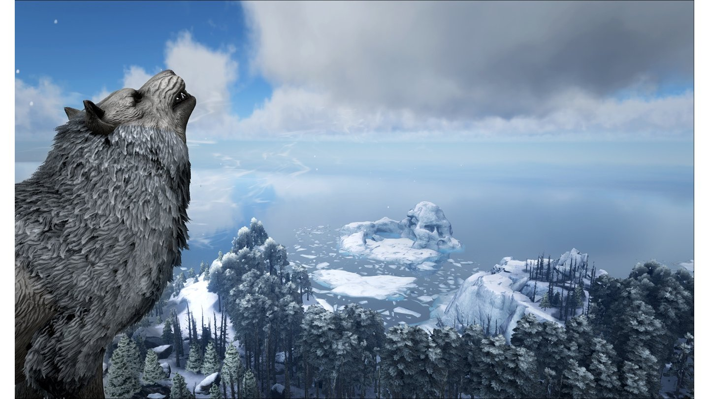 ARK: Survival Evolved - Screenshots aus Winterlandschaft und Sumpf