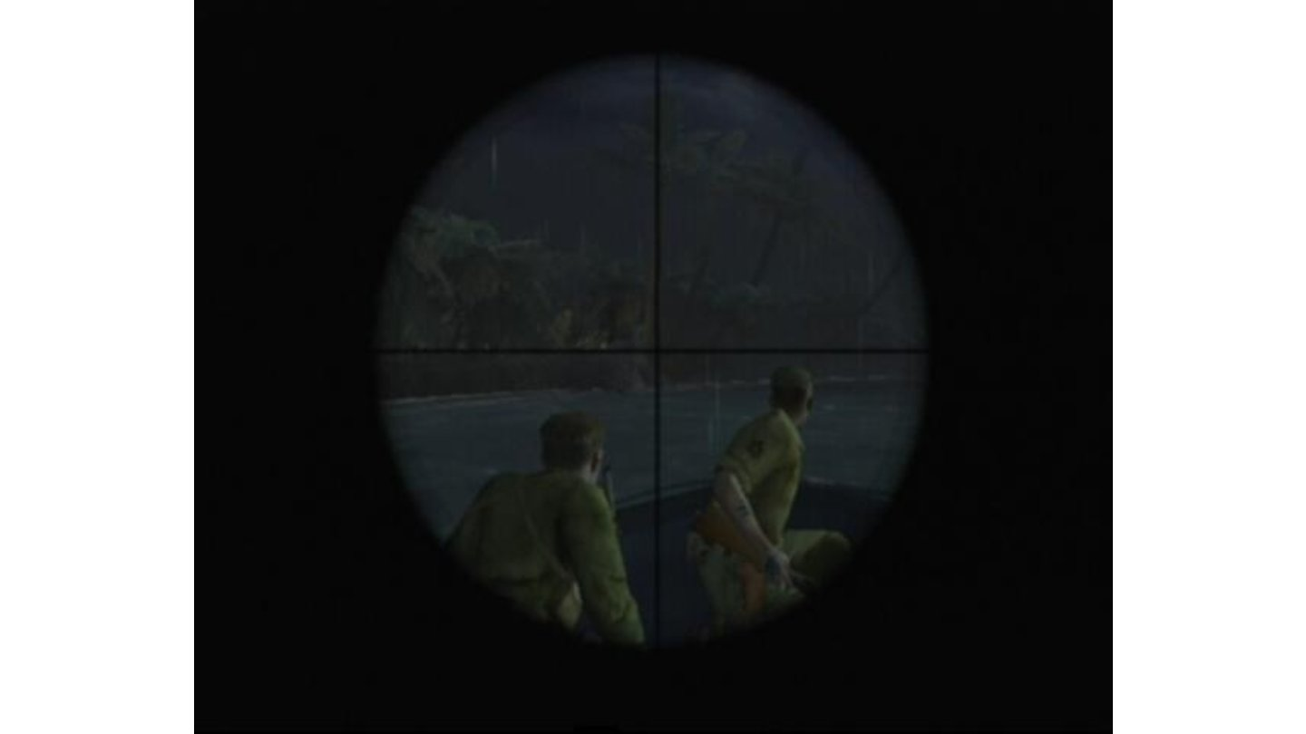 Looking through the sniper rifle scope