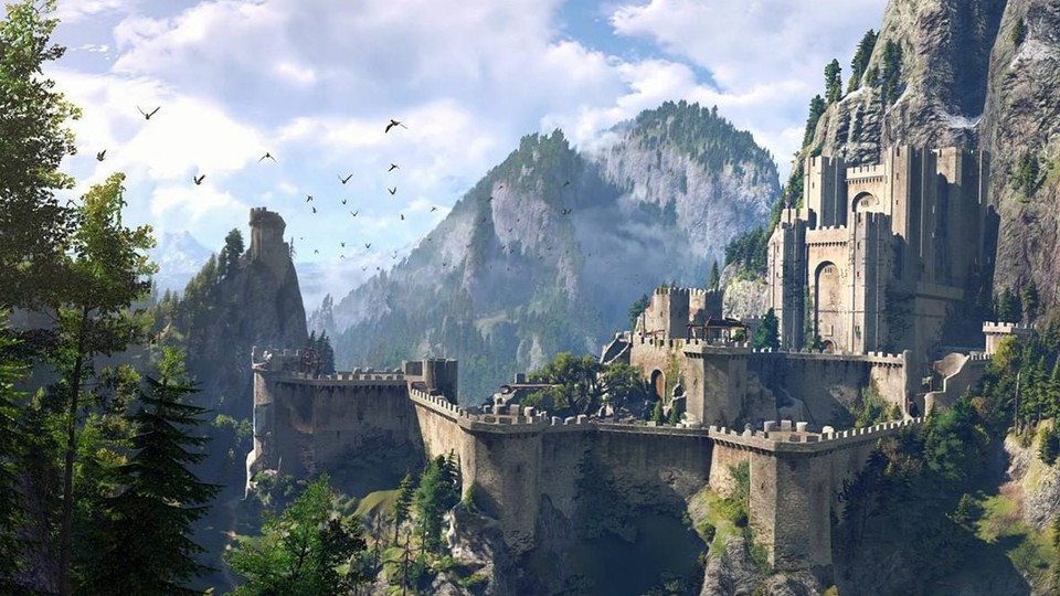 So sah Kaer Morhen in The Witcher 3 aus.