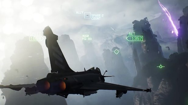 Ace Combat 7: Skies Unknown - Trailer zeigt Luftkampf im Canyon, bei Gewitter