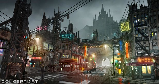 Final Fantasy 7 Remake - Concept Art zeigt Sektor 8.