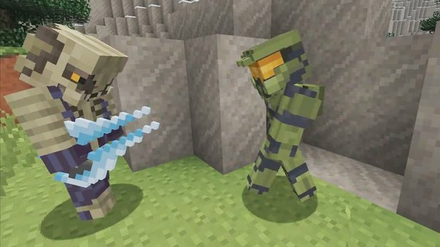 »Halo Mash-up«-Trailer von Minecraft