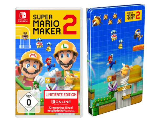 Die Super Mario Maker 2 Limited Edition mit Steelbook.