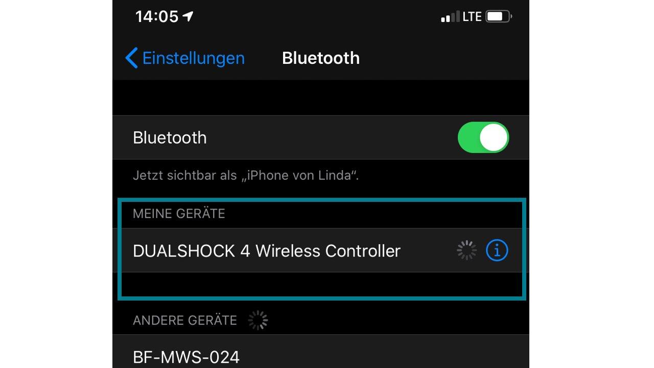 iphone bluetooth einstellungen