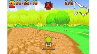Racing around the track is similar to other Kart games