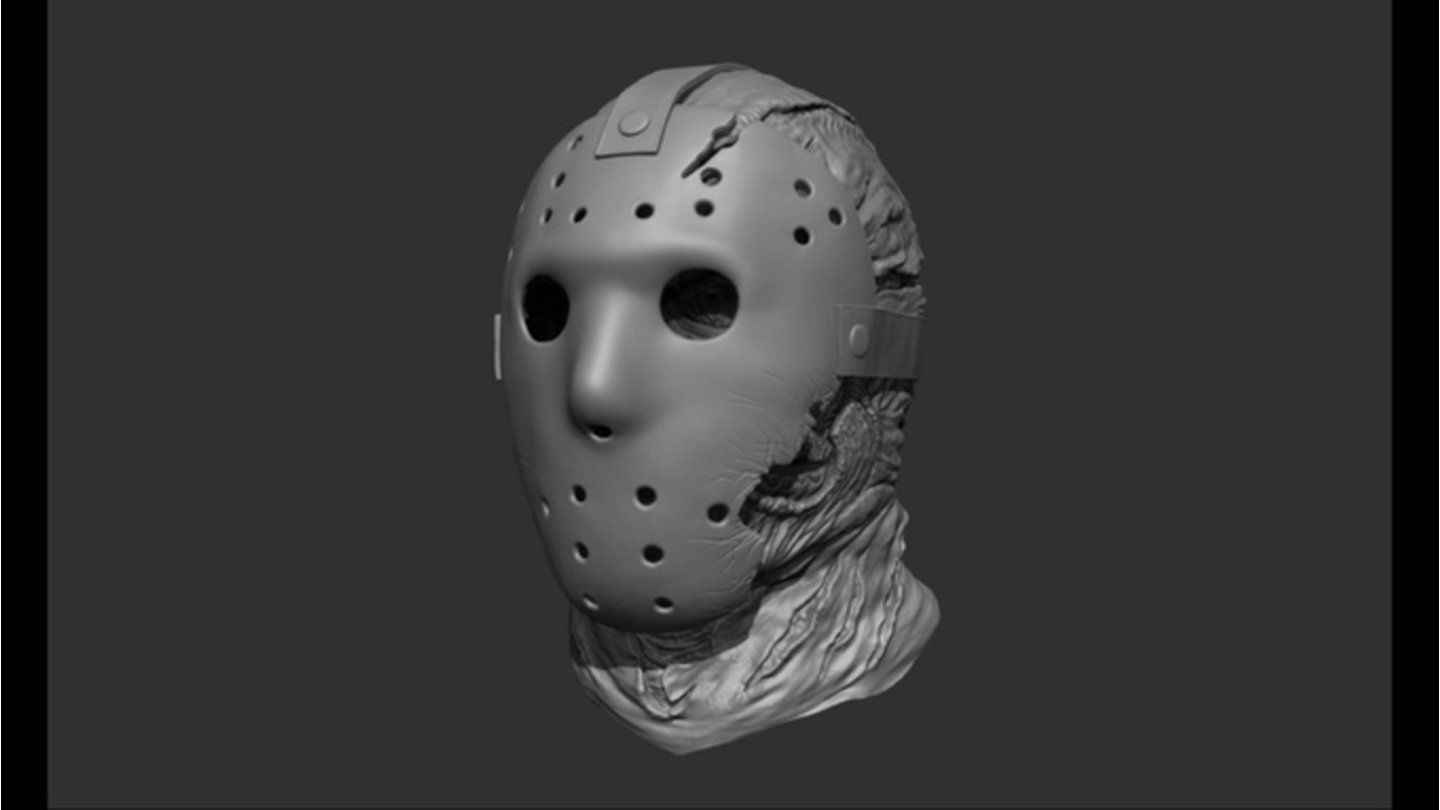 Friday the 13th The Game3D-Modell zu Jasons berühmter Maske
